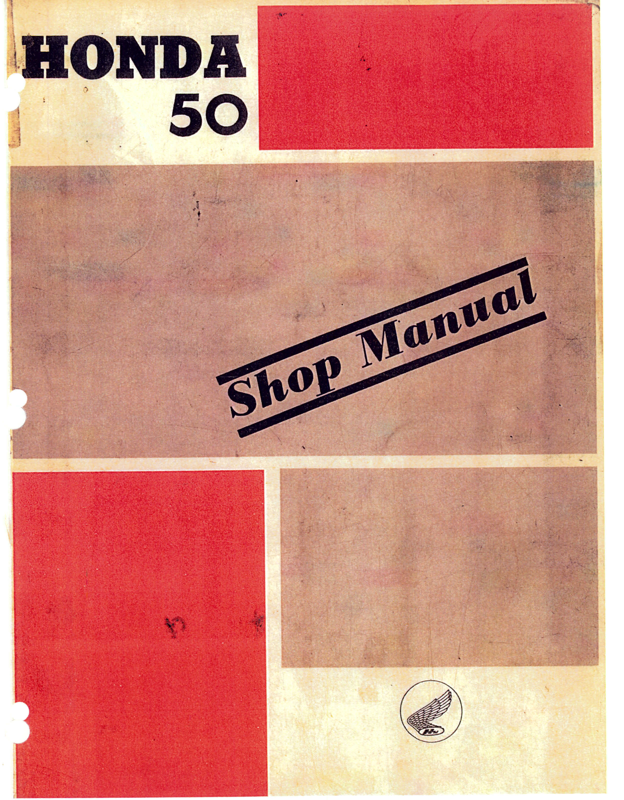A very nice and clear workshop manual for the Honda 50 or Honda C100 from  1961.